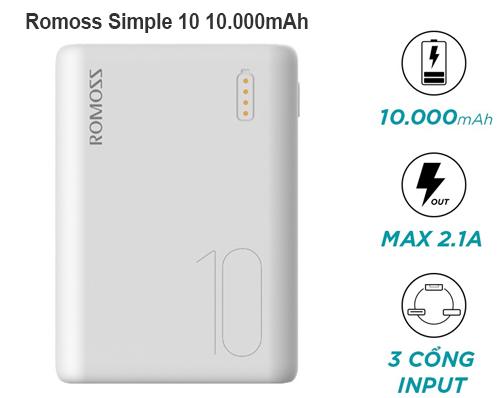 Romoss Simple 10 10.000mAh