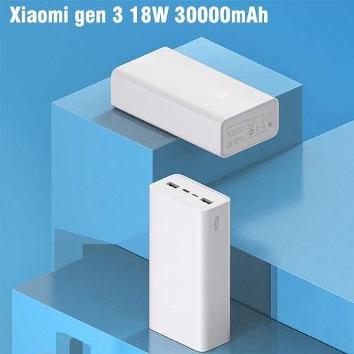 sac du phong 30000mAh Xiaomi gen 3 18W