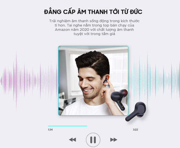 Danh gia tai nghe Earbuds Aukey EP-T25 8